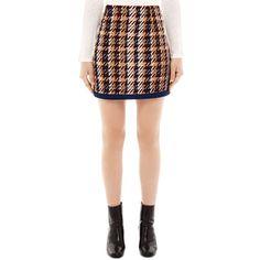 Sandro Tweed Mini Skirt (3.621.980 IDR) ❤ liked on Polyvore featuring skirts, mini skirts, ecru, tweed skirt, short mini skirts, sandro, tweed mini skirt and red mini skirt