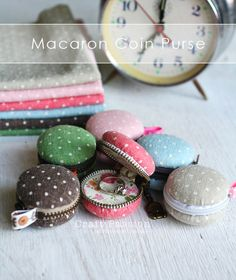 Sewing Free pattern : coin macaron purse