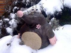 """Maulwurf """"Pauli"""" (groß, frostfest) von HolzTönchen auf DaWanda.com"""