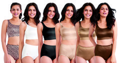 The newly redesigned Ruby Ribbon Demiette™ collection with matching shaping briefs!
