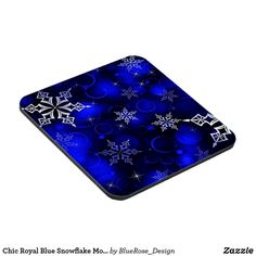 Chic Royal Blue Snowflake Motif Beverage Coaster Beer Mugs, Coffee Mugs, Custom Coasters, Christmas Items, Drink Coasters, Holiday Treats, Christmas Card Holders, Hand Sanitizer, High Gloss