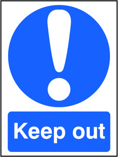 Keep out sign.  Beaverswood - Identification Solutions