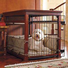 Luxury Mahogany Pet Residence Dog Crate