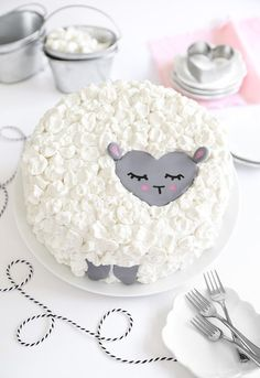 Love Ewe Coconut Cake (vegan)   Sprinkle Bakes