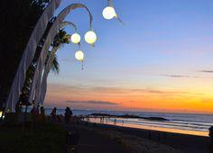 Sunset, The Boardwalk.  Kuta, Bali.