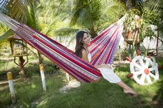 Our lovely Single Hammock Arabica Jacquard #hammock #hängematte #outdoor