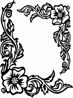 Easy flower designs to draw best design drawing all home interior to draw easy designs for . easy flower designs to draw Rose Coloring Pages, Adult Coloring Pages, Coloring Sheets, Coloring Books, Molduras Vintage, Stencils, Metal Embossing, Wood Burning Patterns, Parchment Craft