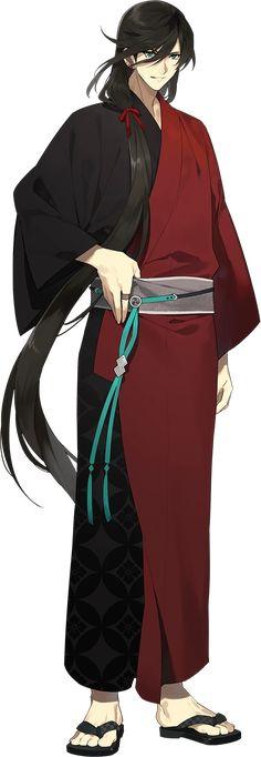 Touken Ranbu Kanesada, Touken Ranbu Characters, Anime Summer, Anime Zodiac, Male Kimono, Galaxy Painting, My Hero Academia Memes, Boy Art, Yukata