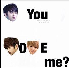 D.O., L, V  #EXO #Infinite #BTS
