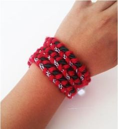DIY Braided Wrap Bracelet by topcraftsdiy