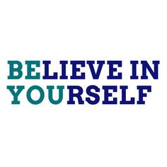 Believe In Yourself Navy Teal, $35, now featured on Fab. (Wall Decal)