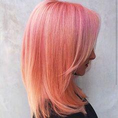 @amiechandelle SUH-LAYING in this gorgeous peachy dream done by @terrashapiro_atjuansalon