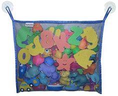 Bath Toy Organizer (Beautiful Dark Blue) – The Best Bag Storage + 2 Bonus Strong Hooked Suction Cups