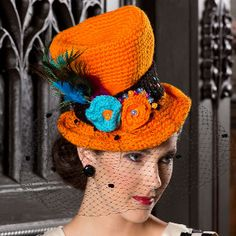 Snazzy Crochet Costume Top Hat | AllFreeCrochet.com. HOW CUTE!!!! ~Lee Ann