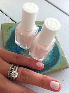 1 coat Essie's Ballet Slippers, topped by 2 coats of Essie's East Hampton Cottage. Dig this.