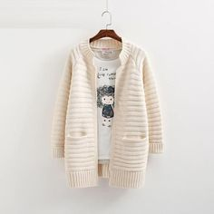 Autumn Winter Fashion Women Long Sleeve loose knitting cardigan sweater Womens Knitted Female Cardigan pull femme cardigans