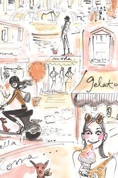 Izak Zenou - fashion illustration