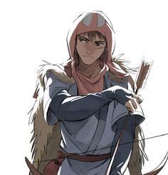 Ashitaka | Princess Mononoke | Miyazaki | Studio Ghibli