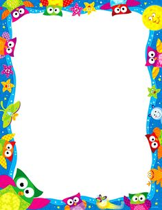 Panda Toilet Paper Owl Border Paper Plkd Clipart Also Terrific Design Ideas Borders For Paper, Borders And Frames, Happy Birthday Owl, School Border, Boarder Designs, Owl Theme Classroom, School Frame, School Images, Birthday Frames