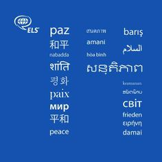 From ELS Language Centers - Peace in '14 #HappyNewYear http://studyusa.com/