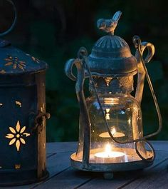 vintage style love bird candle lantern by the flower studio - Love the vintage look, would look great in the garden on a summers evening Tea Light Lanterns, Candle Lanterns, Lamp Light, Tea Lights, Fire Candle, Small Candles, Best Candles, Vintage Lanterns, Autumn Lights