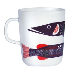 To know more about marimekko Hauki mug, visit Sumally, a social network that gathers together all the wanted things in the world! Featuring over other marimekko items too! Marimekko, Moomin Mugs, Scandinavia Design, Red Mug, Kitchenware, Tableware, Coffee Gifts, Coffee Mugs, Good Company