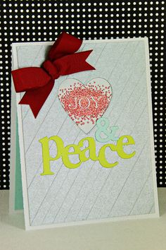 Joy & Peace Card by Erin Lincoln for Papertrey Ink. #Christmas #cards #paper_crafting