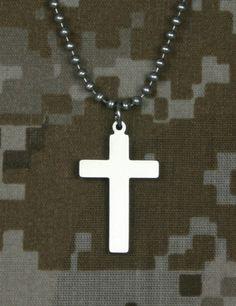 Genuine U. S. Military Issue Cross on SonGear.com - Christian Shirts, Jewelry