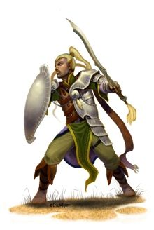 This stock art image by Eric Lofgren depicts a male elf fighter preparing to defend himself against an oncoming attack, in RGB colour. $10.  www.rpgnow.com/product_info.php?products_id=127644&affiliate_id=34429&src=Pinterest