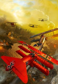 Version 2 of my Red Baron for a book cover. Military Art, Military History, Benfica Wallpaper, Fokker Dr1, Ww1 Art, Military Drawings, German Soldiers Ww2, Airplane Art, World War One