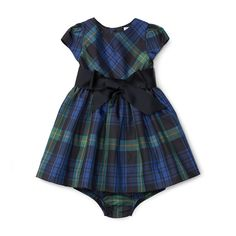 Plaid Taffeta Dress & Bloomer