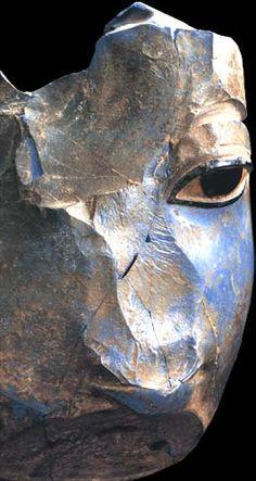 Egyptian glass head ...1400-1350 bc.