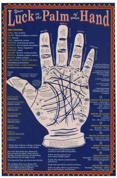 How to read palms | Palm reading, Palm and Reading charts