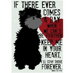 Affenpinscher Dog Art Print Winnie the Pooh Quote by GoingPlaces2, $14.00