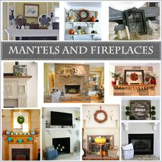 I gathered a collection of mantels and fireplaces of my favorite bloggers to share inspiring ideas. It is almost that time of year!