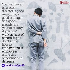 You will never be a good director a good executive a good manager or a good president in your company if you cant work as part of a team if you dont know how to empower your employees and train supervise and delegate. http://arata.se/pe16  __________________________________________________________________________ #ArataAcademy #ArataAcademyENGLISH #edtech #elearning #instadaily #Mastery #PhotoOfTheDay #PicOfTheDay #Productivity #SeiitiArata #SelfDevelopment #Director #Executive #Manager…