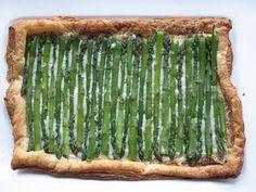 Asparagus Gruyere Tart | Sugarlaws