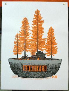 Bon Iver concert poster