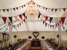 'Blues & Royals' bunting for hire The Big Beautiful Bunting Co. #bunting #buntinghire #bigbeautifulbunting