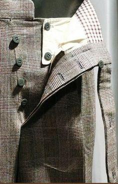 Hidden placket ( unusual fastening) for pants
