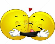 Mascot illustration of a pair of smileys Huggi . Mascot illustration of a couple of smileys hugging photo Smiley Emoji, Smiley Emoticon, Animated Smiley Faces, Funny Emoji Faces, Funny Emoticons, Smileys, Funny Hug, Emoticons Text, Hug Images