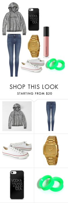 """""""Untitled #28"""" by brokenangel-eva on Polyvore featuring Abercrombie & Fitch, 7 For All Mankind, Converse, Nixon and Bare Escentuals"""