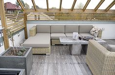 Minimalistisk terrasse Asker Outdoor Sectional, Sectional Sofa, Outdoor Furniture Sets, Outdoor Decor, Interior, Home Decor, Terrace, Modular Sofa, Decoration Home