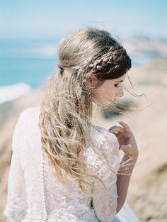 California Cliffside Bridal shoot