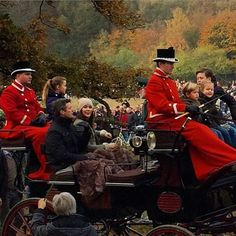 Crown Prince Frederik and Crown Princess Mary, with their four children, Prince Christian,Prince Vincent, Princess Josephine and Princess Isabella attended the annual 'Hubertusjagten' in Deer Park (Dyrehaven) on November 1, 2015. (It is not a hunt. Hubertus Hunt is a cross country equestrian event with a long history.)