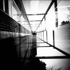 A double exposure. Camera was made of shoebox and stuff. Pinhole Camera Photos, A Level Photography, Double Exposure, Optical Illusions, Finland, Stairs, Photographs, Industrial, Art