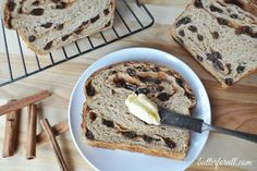 A traditionally fermented and leavened Cinnamon Raisin Sourdough bread with a delicious maple syrup swirl. Perfect for breakfast or french toast! Sourdough Recipes, Sourdough Bread, Bread Recipes, Real Food Recipes, Cooking Recipes, Starter Recipes, Healthy Recipes, Healthy Options, Healthy Food