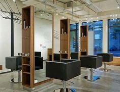 Modern industrial salon by Karhard Architecture Design