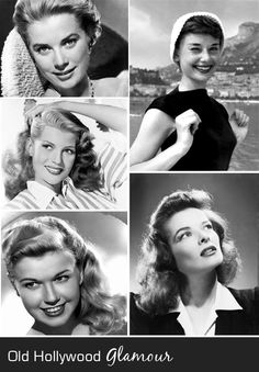 Old Hollywood class:  Grace Kelley, Audrey Hepburn, Rita Hayworth, Doris Day, Katharine Hepburn