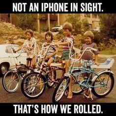 No helmets either!! We were a cray bunch, weren't we?